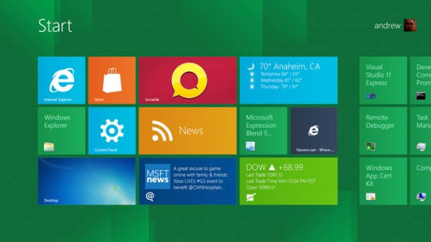 "Windows 8 farà a meno del tasto ""Start"""